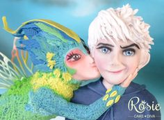 My Fave Rise of the Guardians Sugar Piece Ever - by Rosie Cake-Diva on CakesDecor - http://cakesdecor.com/cakes/100611-merry-kissmas-jack-frost