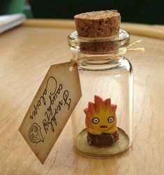 Details about New bottle Calcifer flame fire spirit howl's moving castle Studio Ghibli gift New Bottle Calcifer Flame Fire Spirit Howl's Moving Castle Studio Ghibli Gift Bottle Charms, Clay Charms, Hayao Miyazaki, Totoro, Fimo Kawaii, Howl's Moving Castle, Anime Crafts, Film D'animation, Ghibli Movies
