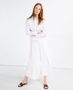 Image 1 of ANKLE LENGTH BOX PLEAT SKIRT from Zara