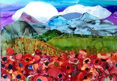 """Poppy Mountains"" original fine art by Kristen Dukat"