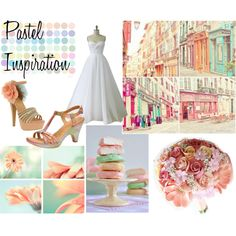 """""""Pastel Wedding Colors Inspiration"""" by danyellefl01 on Polyvore"""