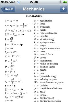 Physics Formulas screenshot #4...it's not Economics but still in the MATH family.