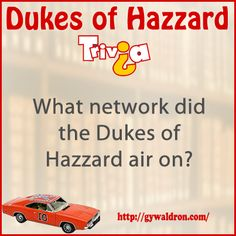 What network did the Dukes of Hazzard air on?  #DukesofHazzard