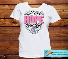Hereditary Breast Cancer Love Hope Courage Shirts