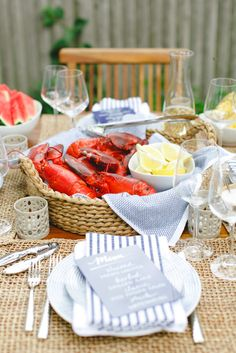 Summer lobster dinner