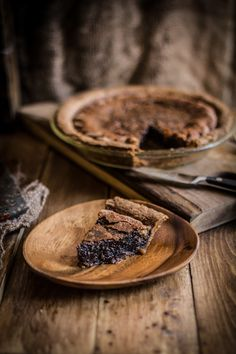 Made this chocolate chess pie for Brandon birthday coming up, big hit all the way around. My pie crust was a little more chewy, but I think it was thicker than hers though, but still very very very good