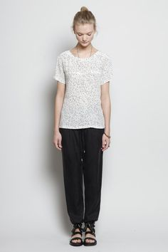 A.P.C. - T-Shirt In Speckled Silk