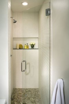 Tiny Shower how to make a tiny shower look bigger with tiling | small shower