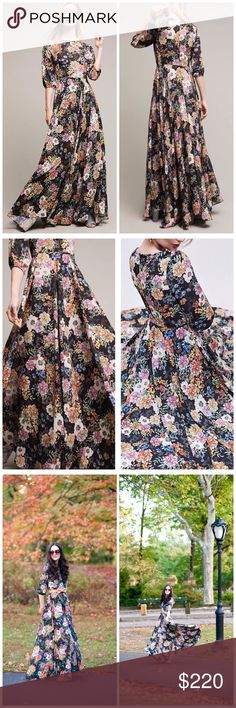 """Anthropologie Garden Gown Maxi Dress Details: Size: XS. By Yumi Kim for Anthropologie. Highly sought after & sold out. Brand new with tags. In perfect condition with no flaws. Also called the """"Yumi Kim WoodStock Maxi Dress.""""  A full-length look colorfully"""