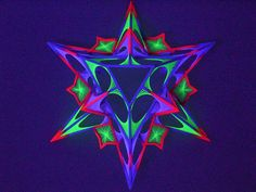 TRIANGLE GANESH by fluorostructure psydeco fluoro structure festivals psytrance #fluorostructure UV stars decor