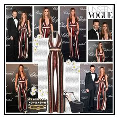 """2016 Cannes Film Festival: Chopard Trophy Celebration~ Cheryl Fernandez Versini"" by snugget9530 ❤ liked on Polyvore featuring Chopard, JULIANNE, Fendi and Gucci"