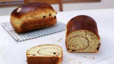 Cinnamon Raisin-(stand loaf Bread or All Purpose Flour g)- butter tsp salt- 1 egg - 1 milk- tsp Dry yeast (one raisins- TOPPING-sugar, cinnamon, egg white. Bread Cake, Dessert Bread, Cinnamon Raisin Bread, Cinnamon Rolls, Recipe For Mom, Mom's Recipe, How To Make Bread, No Bake Desserts, Bread Baking
