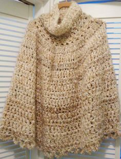 Check out this item in my Etsy shop https://www.etsy.com/listing/225342174/crocheted-womens-poncho-in-oatmeal
