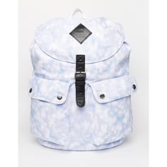 Vans Backpack in Tiedye (€57) ❤ liked on Polyvore featuring bags, backpacks, blue, blue bag, cotton drawstring bags, cotton drawstring backpack, drawstring backpack and blue backpack