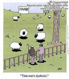 The dyslexic sheep...