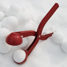 Get ready for the snow fight with this super handy and quick snowball maker.