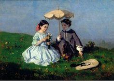 Léon Henri Antoine Loire  Meninas no campo  s/d  Óleo s/ tela  Museu do Chiado – Museu Nacional de Arte Contemporânea