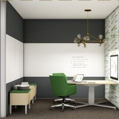 Maybe in a small office? I like the furniture (not the colour)