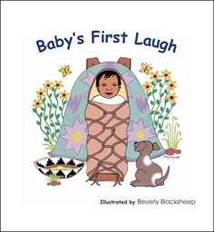 Beverly Blacksheep's Navajo/English board book about a Navajo family and a baby's first laugh