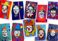 photo tête clown