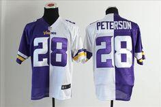 NFL Minnesota Vikings split jerseys