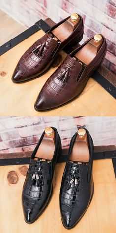 b382dbf70e9 US  25.8 Prelesty Luxury Classic Elegant Italian Men Penny Loafer Formal  Dress Wedding Shoe Business Shoes