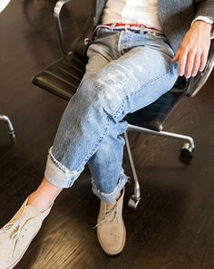 """Andy Spade - Levi's 501 Jean """"It's the only jean I would ever wear. I don't like designer jeans, I think they're ridiculous. These are made for work. They're not tailored in any way, they're just old, well-fitting jeans. I have about 10 pairs from college and high school, and I repair them over and over."""""""