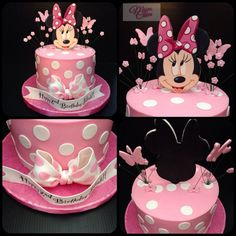 Minnie mouse birthday cake with butterflies