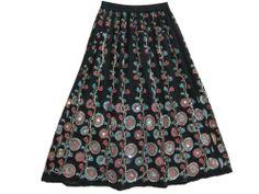 Mogulinterior Bohemian Black Skirt, Floral Hand Allover Beaded Back Skirt Mogul Interior,http://www.amazon.com/dp/B00DOS96EG/ref=cm_sw_r_pi_dp_PkRbsb0KY3D6YMT0