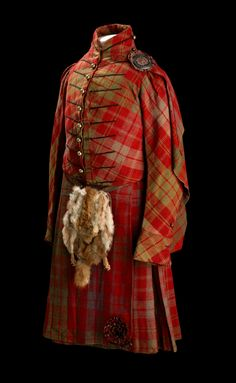Tartan suit originally made and worn for George IV's visit to Scotland in 1822 and taken to Australia by Donald Munro Ross when he emigrated in 1864, Scotland, early 19h century.