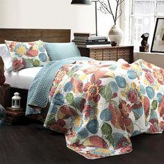 b18135f73a Lush Decor Layla 3-pc Orange Blue Quilt Set Master Suite