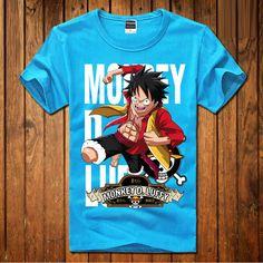 TShirt-People Evolution One Piece T-Shirt Herren Luffy Hat Manga