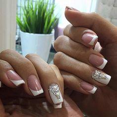 French Tip Wedding Nail Design