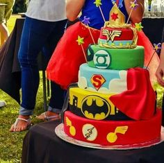 Kyle's Justice League Birthday Cake