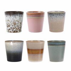HK living Ceramic Mug Keramik-Becher - colorful - Heimtextilien & Wohn-Deko online kaufen Stoneware Mugs, Ceramic Mugs, Cerámica Ideas, Japanese Tea Ceremony, Table Design, Natural Forms, Cupping Set, Mugs Set, Safe Food