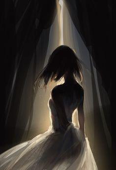 Foto Fantasy, Dark Fantasy Art, Fantasy Artwork, Beautiful Fantasy Art, Anime Art Girl, Manga Art, Anime Girl Drawings, Girl Cartoon, Cartoon Art