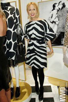Rachel Zoe wearing a graphic zebra dress and black tights Animal Print Fashion, Animal Print Dresses, Fashion Prints, Animal Prints, Rachel Zoe, Wild Child, Star Fashion, Womens Fashion, Valentino