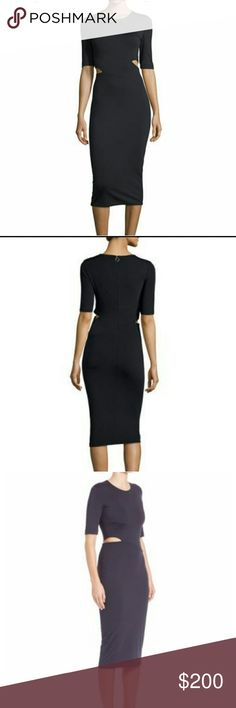 NWT T by Alexander Wang Dress Very form-fitting and very sexy. The color is black, I used the third photo for illustration. Could also fit an xxs. T by Alexander Wang Dresses Midi