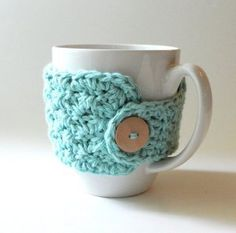 Crochet mug cozy tutorial/pattern. Such loveliness!!!