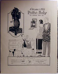 Original Vintage 1924 PATHÉ-BABY Home Projector Art by PHILALETTRE