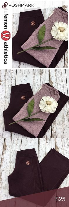 "💕SALE💕Lululemon Burgundy Sweat Pants Awesome 💕Lululemon Burgundy Sweat Pants missing Tie but still elastic waistband just need to add a tie. Size removed but believe it's a 6 or 8 Inseam 28"" waist 27"" super comfortable perfect fall lounge pants lululemon athletica Pants Track Pants & Joggers"