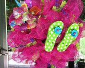 Flip Flops Summer Mesh Wreath