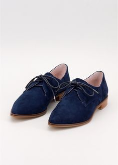 3bdb3684b85 Boston Blue Suede Oxfords. WIldfang. Blue Shoes ...