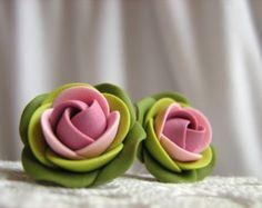 Pendientes de arcilla polímero aretes de color por KaoriPearlRose