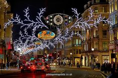 Christmas lights and decorations in Regent Street, London