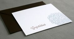 Letterpress Blue and Brown Hydrangea Congratulations Cards by RustBeltPress on Etsy, $11.00
