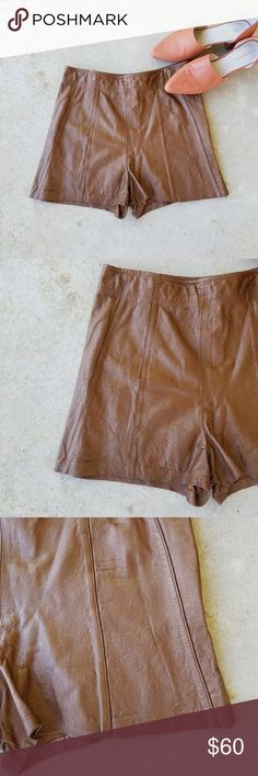 True Vintage Chocolate Shorts Bringing you guys more festival gear! Gorgeous pair of true vintage shorts. Yes, they are high waisted! A pair you can transition perfectly from spring summer fall to winter~ I am in love. But what don't I love that I list? Haven't measured yet, but look to be in the small range. Vintage Shorts Autumn Summer, Winter, Festival Gear, Vintage Shorts, Leather Shorts, Fashion Tips, Fashion Design, Fashion Trends, Vintage Ladies