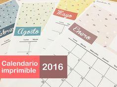 Calendario bonito 2016 para imprimir gratis