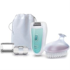 Philips SatinSoft HP6521-01 Wet And Dry Epilator With Skin Care System With Exfoli - New Arrivals- - TopBuy.com.au