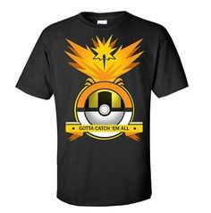 c1a2baa4 Hot 2016 POKEMON GO Shirt Team INSTINCT Mystic Valor Funny t shirt Mens T- shirts Cotton Tee Tops Casual Brand Clothing 8109